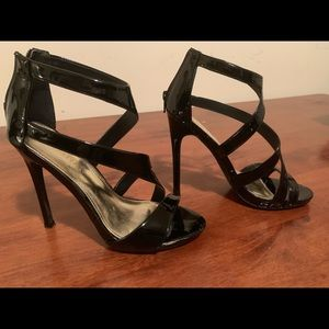 Women's Patent Leather High Heel Sandals